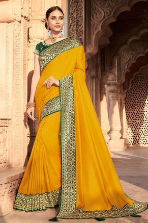 Mehndi Wear Saree