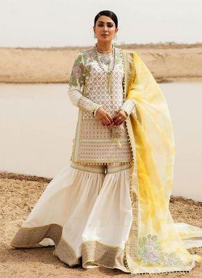 Kalali Embroidered Pakistani Gharara Suit
