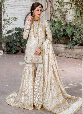 Roshni Embroidered Pakistani Gharara Suit