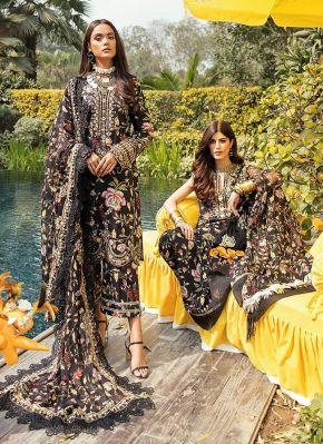 Black Magic Embroidered Pakistani Salwar Kameez