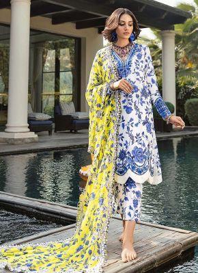White Magic Embroidered Pakistani Salwar Kameez