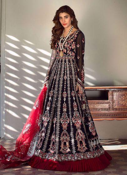 Zaila Embroidered Pakistani Anarkali Gown