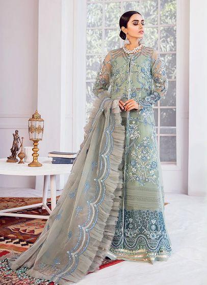 Mint Macaron Embroidered Pakistani Palazzo Suit