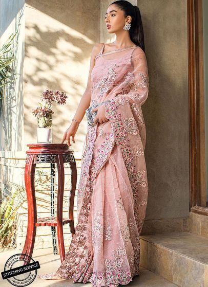 Limited Edition Embroidered Pakistani Saree