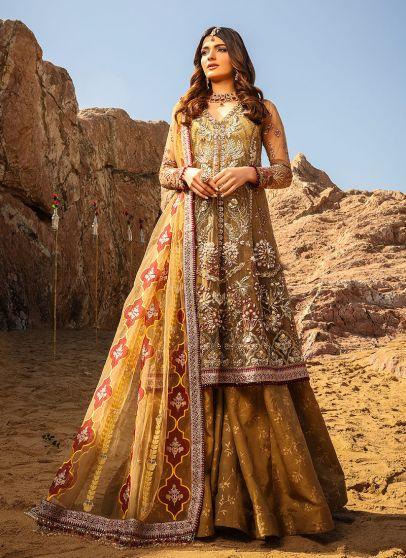 Alif Luxury Wedding Embroidered Pakistani Lehenga