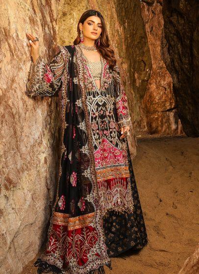 Alif Luxury Wedding Embroidered Pakistani Palazzo Suit