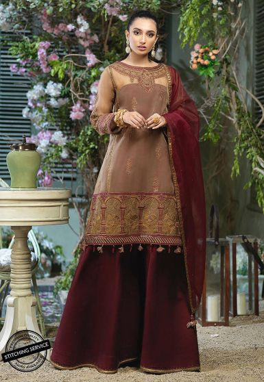Jashn Festive Collection Embroidered Pakistani Sharara Suit