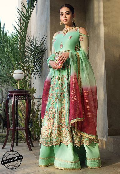 Luxury Lawn Collection Embroidered Pakistani Lehenga