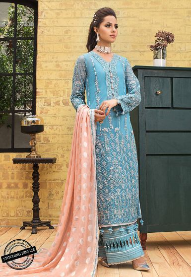 Luxury Lawn Collection Embroidered Pakistani Palazzo Suit