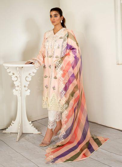 Crepe Embroidered Pakistani Salwar Kameez
