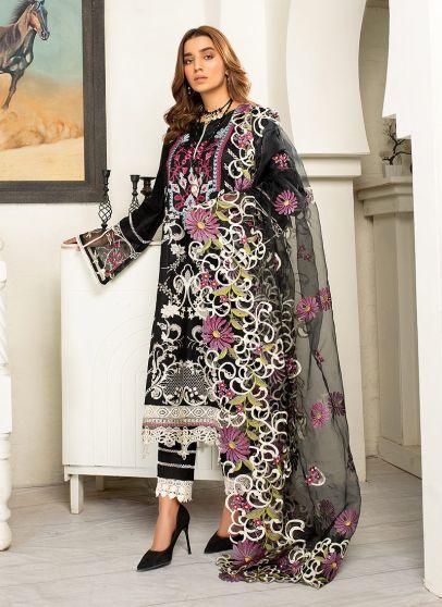 Raven Embroidered Pakistani Salwar Kameez