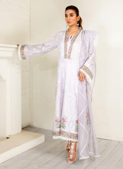 Periwinkle Embroidered Pakistani Salwar Kameez