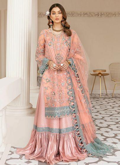 Moorea Embroidered Pakistani Sharara Suit
