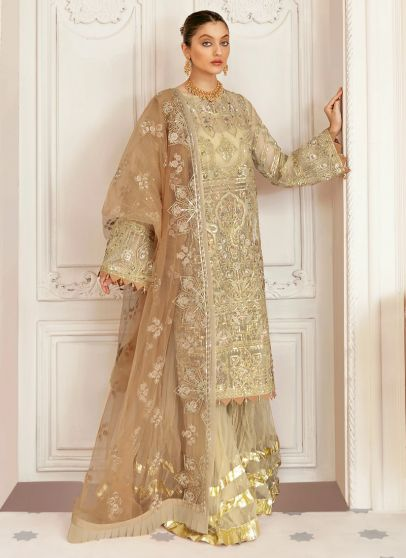 Madeira Embroidered Pakistani Gharara Suit