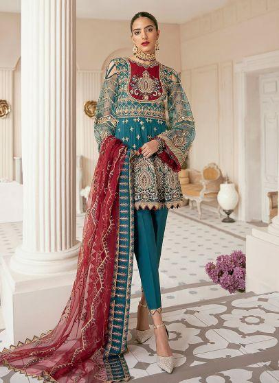 Dale Embroidered Pakistani Salwar Kameez