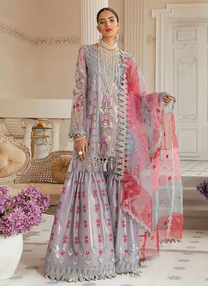 Amalfi Embroidered Pakistani Gharara Suit