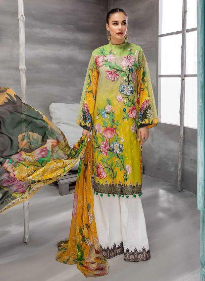 Sun Kissed Embroidered Pakistani Palazzo Suit