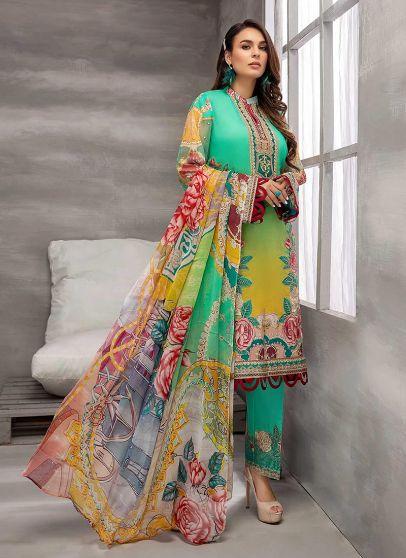 Forest Fantasy Embroidered Pakistani Salwar Kameez