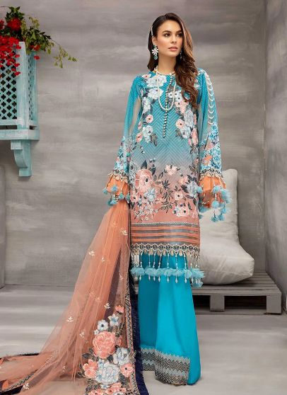 Pure Radiance Embroidered Pakistani Palazzo Suit