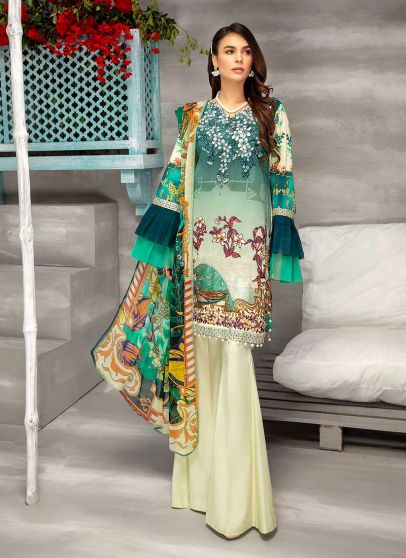 Color Chic Embroidered Pakistani Palazzo Suit