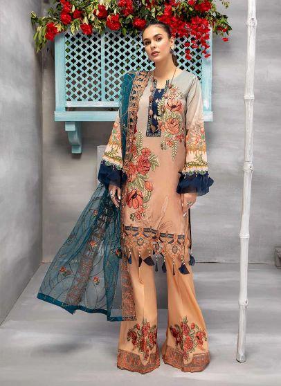 Plush Wear Embroidered Pakistani Palazzo Suit