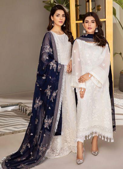 Pareesa Embroidered Pakistani Anarkali/ Salwar Kameez