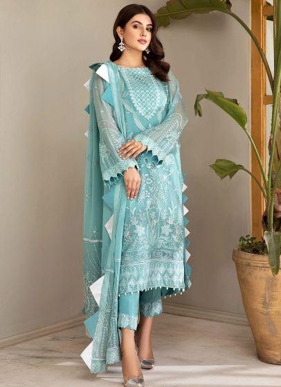 Ferozeh Embroidered Pakistani Salwar Kameez