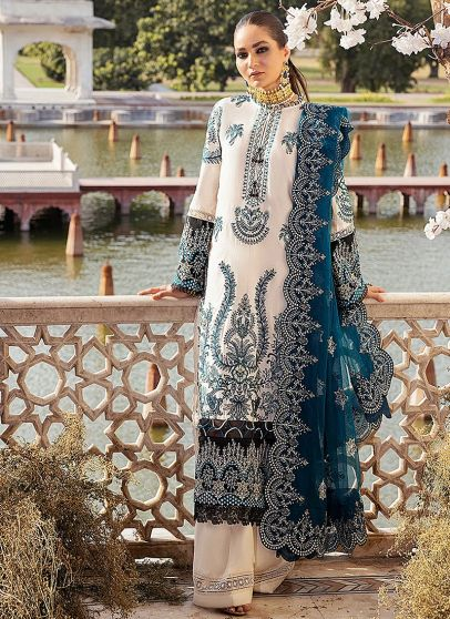 Zephyr Embroidered Pakistani Palazzo Suit