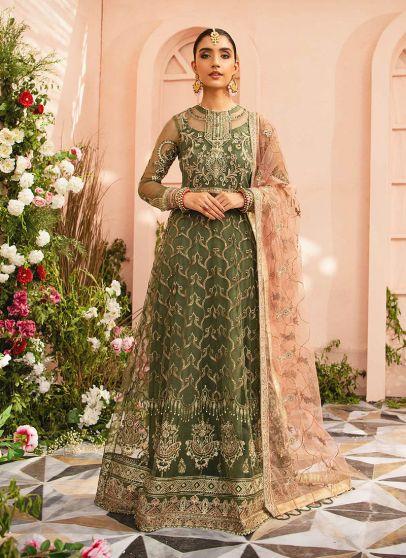 Mystique Collection Embroidered Pakistani Anarkali Suit