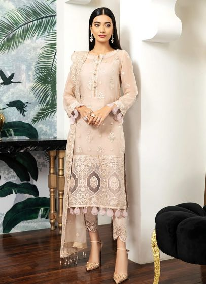 Peche Embroidered Pakistani Salwar Kameez