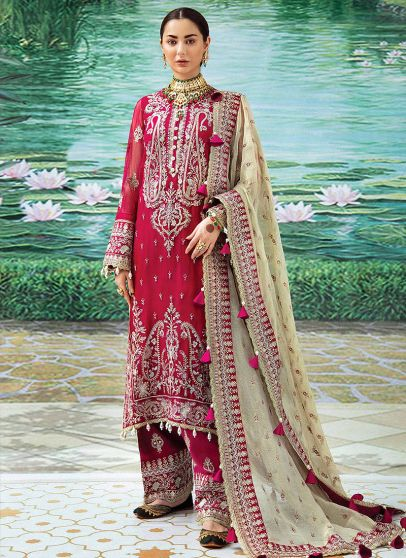 Wedding Formal Collection Embroidered Pakistani Palazzo Suit