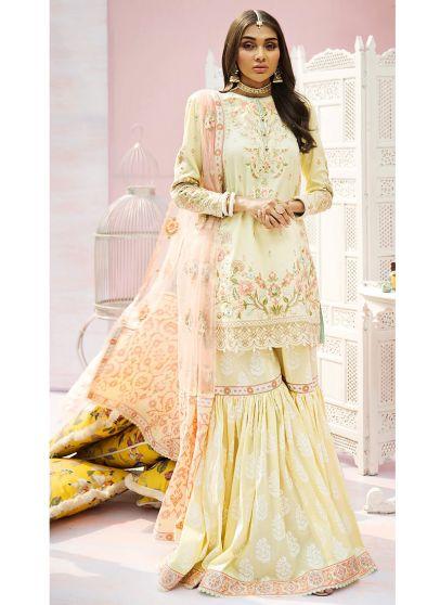 Banu Embroidered Pakistani Gharara Suit