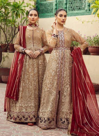 Aangan Embroidered Pakistani Anarkali/ Lehenga