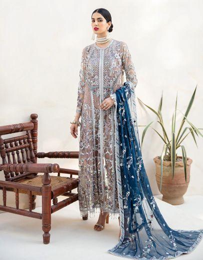 Daisy Tulip Embroidered Pakistani Salwar Kameez