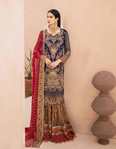Granola Carmina Embroidered Pakistani Gharara Suit