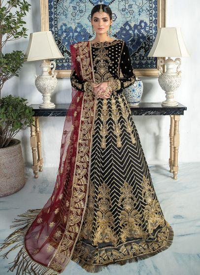 Dollcesa Embroidered Pakistani Lehenga Gown