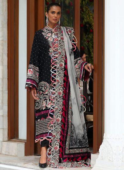 DereJan Embroidered Pakistani Salwar Kameez