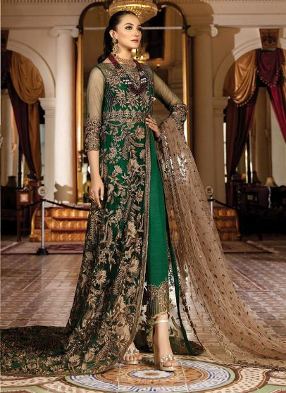 Emeraude Embroidered Pakistani Gown