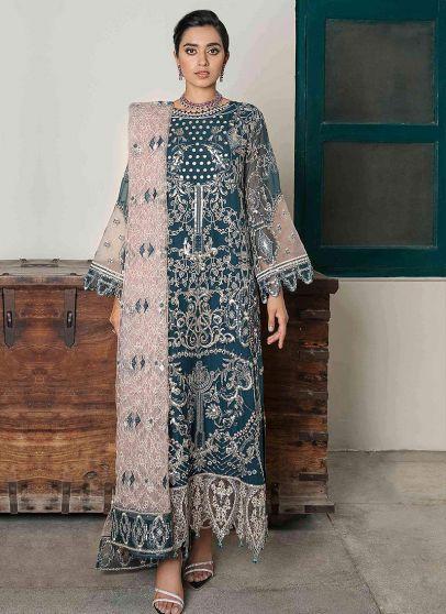 Zohra Embroidered Pakistani Salwar Kameez