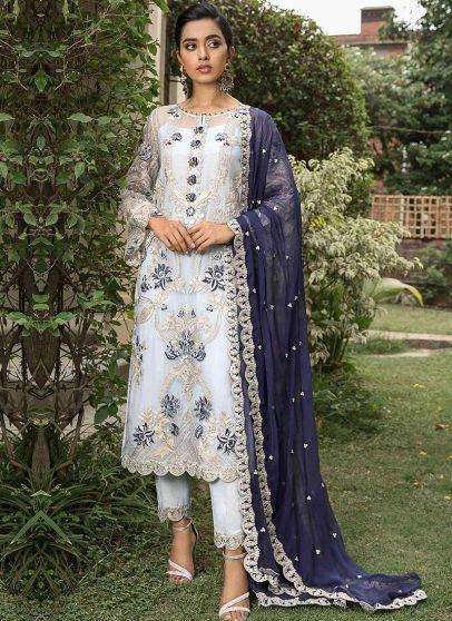 Surmai Bahar Embroidered Pakistani Salwar Kameez