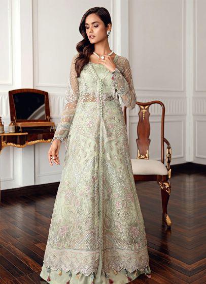 Melia Embroidered Pakistani Lehenga Suit