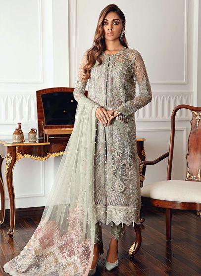 Diamante Embroidered Pakistani Lehenga