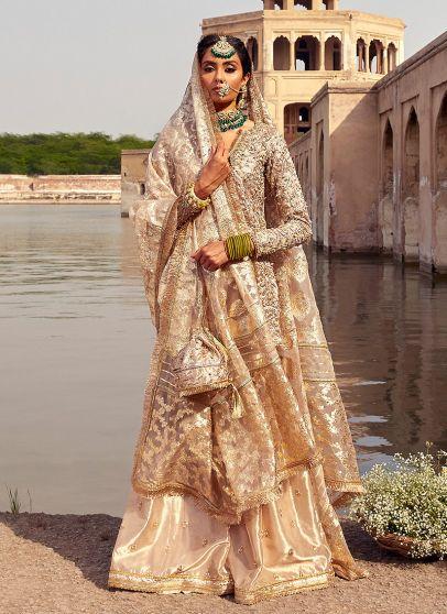 Noor Jehan Heavy Embroidered Pakistani Palazzo Suit