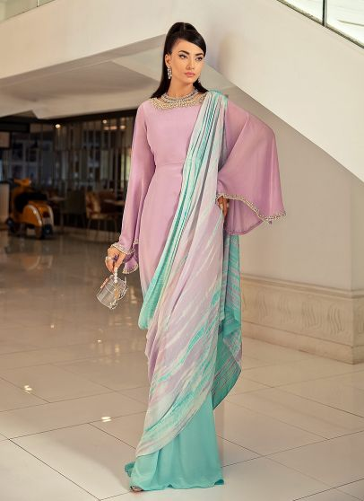 Mon Tresor Embroidered Pakistani Saree