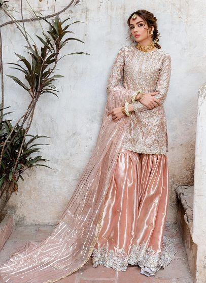Safa Embroidered Pakistani Gharara Suit