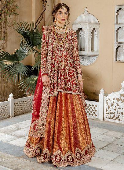 Mohisa Embroidered Pakistani Lehenga Suit