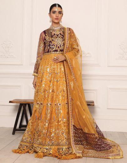 Lamour Luxury Chiffon Embroidered Pakistani Anarkali