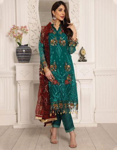 Lamour Luxury Chiffon Embroidered Pakistani Salwar Kameez