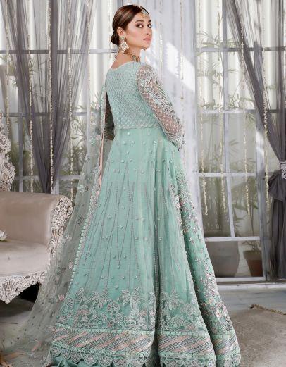 Mint Glamour Embroidered Pakistani Anarkali
