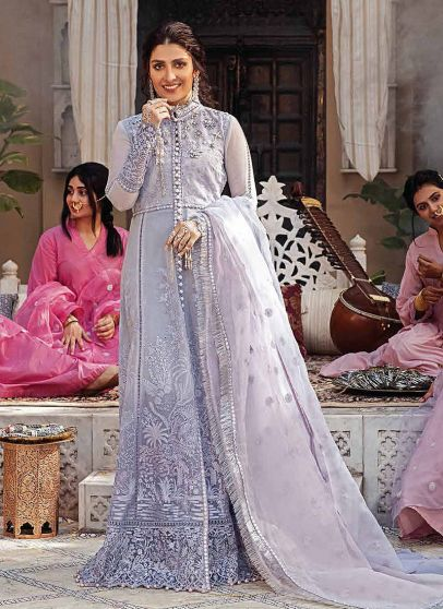 Zeb Embroidered Pakistani Anarkali Suit